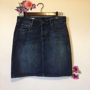 Gap Premium 1969 Indigo Denim Skirt Size M 8-10